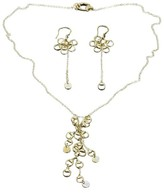 Gucci 18K Yellow Gold Horsebit Necklace & Dangle Earrings Set