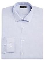 Theory Gingham Jaquard Slim Fit Dress Shirt