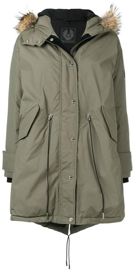 Belstaff fur hood parka coat
