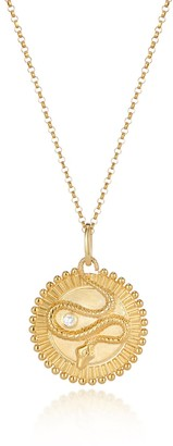 One And One Studio Gold Ouroboros Gold Medallion Snake Pendant Necklace