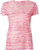 Majestic Filatures striped shortsleeved T-shirt - women - Linen/Flax - II