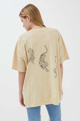 Project Social T Tiger Overdyed T-Shirt Dress