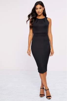 Lipsy High Neck Bodycon Dress - 12 - Black