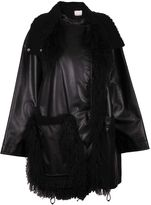 Paco Rabanne Fur Detailed Oversized Coat