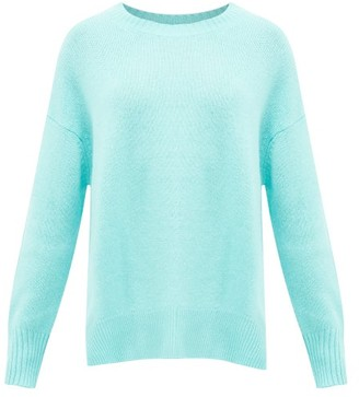 Allude Draped Cashmere Sweater - Womens - Light Blue
