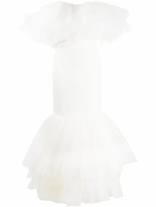 Alessandra Rich Ruffled Tulle Dress