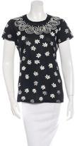 Jil Sander Floral Printed Short Sleeve Top