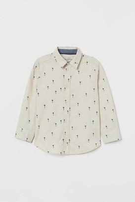 H&M Cotton Shirt - Beige