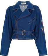 Kansai Yamamoto Vintage peakcock embellished denim jacket