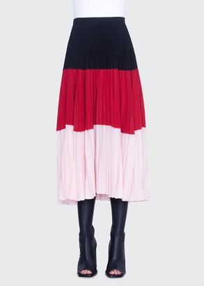 Akris Punto Colorblocked Crepe Bell-Shaped Skirt