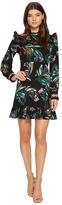 Catherine Malandrino Long Sleeve Ruffle Yoke/Hem Dress Women's Dress