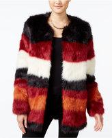 Jessica Simpson Rocky Faux-Fur Colorblocked Jacket