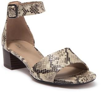 Clarks Elisa Dedra Snake Embossed Stacked Sandal