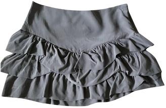 Maje Grey Silk Skirt for Women