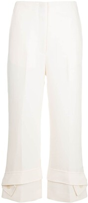 3.1 Phillip Lim Belted-Cuff Cropped Trousers
