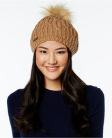 MICHAEL Michael Kors Cable and Faux-Fur Pom Pom Beret