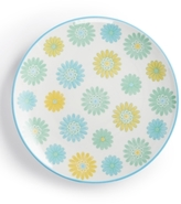 Certified International Chelsea Collection Embossed Green/Multi Floral Dessert Plate