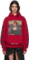 Off-White Red Diagonal Monalisa Hoodie