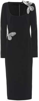 David Koma Embellished cady dress