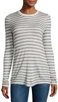 ATM Anthony Thomas Melillo Long-Sleeve Striped Jersey Tee, Oatmeal/Gray