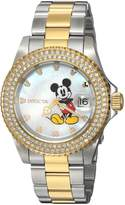 Invicta Women's 'Disney Limited Edition' Quartz Stainless Steel Casual Watch, Color:Two Tone (Model: 24752)
