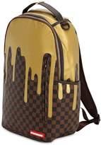 Sprayground Gold Checkered Faux Leather Backpack