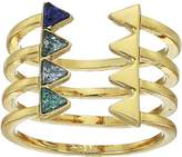 Rebecca Minkoff Stacked Triangles U-Ring Ring