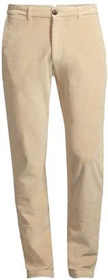 Eleventy Flat-Front Corduroy Chino Pants