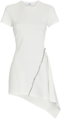 Area Crystal-Embellished Asymmetrical Mini Dress