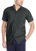 Wolverine Red Kap Men's Industrial Short-Sleeve Work Shirt,Light Tan, 2X-Large