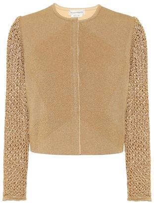 Alexander McQueen Metallic knit cardigan
