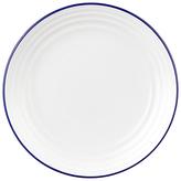 John Lewis Tapas Plate, White/Blue, Dia.15.8