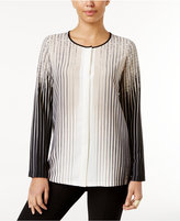 Alfani Ombré-Stripe Blouse, Only at Macy's
