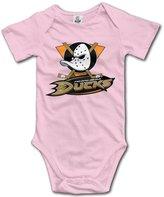 Enlove Anaheim Ducks BABY Cartoon Short Sleeves Variety Baby Onesies Creeper For Little Kids Size 6 M