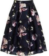 Dorothy Perkins Womens *Chi Chi London Navy Floral Print Midi Skirt