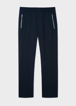Paul Smith Men's Dark Navy Wool-Blend Drawstring Pants