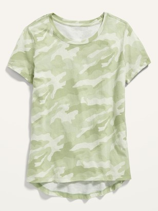 Old Navy Softest Camo-Print Scoop-Neck Tee for Girls