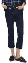 Topshop Women's Raw Hem Crop Flare Jeans