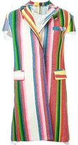 Sacai striped coat - women - Cotton/Acrylic/Nylon/Wool - 2