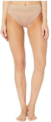 Warner's No Pinching No Problems Lace High-Cut Brief (Rich Black) Women's Underwear