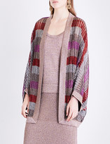 Missoni Batwing-sleeve metallic-knit cardigan