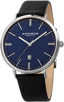 Akribos XXIV Men's Grid Pattern Dial Date Watch, 42mm