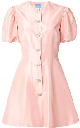 Sorbet Macgraw embellished button dress