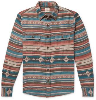 Faherty Canyon Organic Cotton-Flannel Jacquard Overshirt