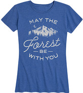 Instant Message Women's Women's Tee Shirts HEATHER - Heather Royal Blue 'May The Forest Be With You' Relaxed-Fit Tee - Women