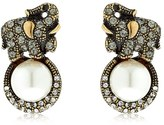 Alcozer & J Elsa Elephant Earrings