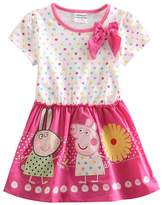 LEMONBABY Peppa Pig cartoon baby girls skirt cotton birthday dress (6Y, )