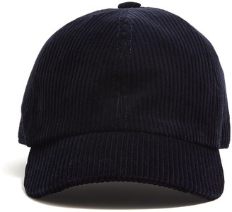 Lock & Co Hatters Lock and Co Corduroy Rimini Dad Hat in Navy