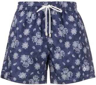 Borrelli Floral And Paisley Swimming Trunks