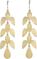 Irene Neuwirth Leaf Three Drop Earrings - Yellow Gold